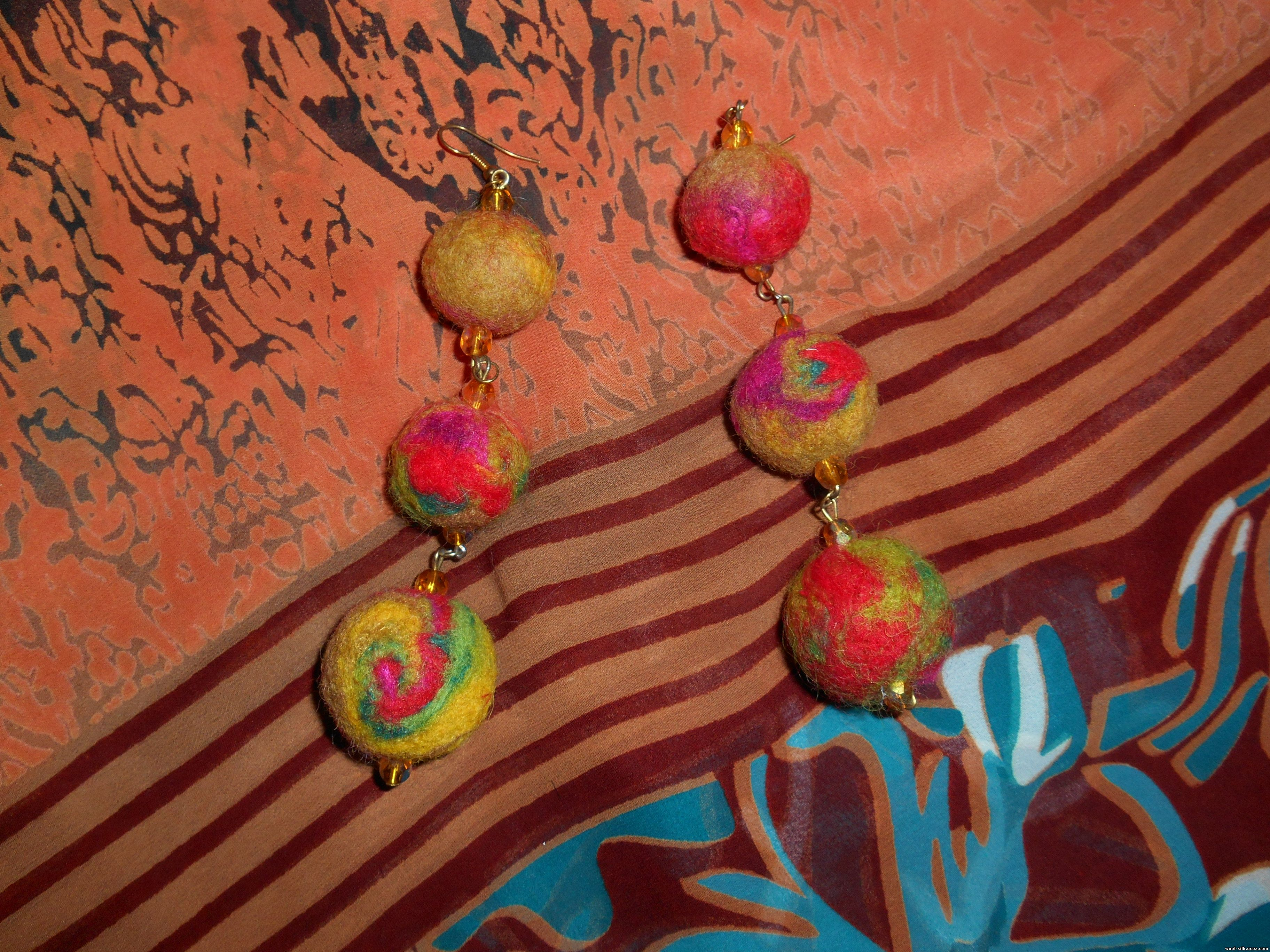 Как сделать многоцветное валяное изделие фото 580